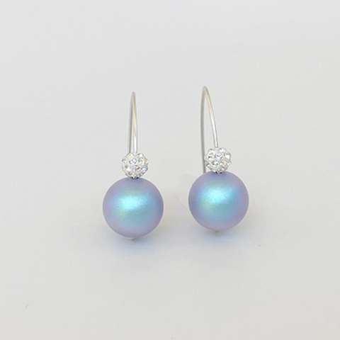 MONOLISA Pearl Earrings Designed with Swarovski Pearls & Pave