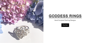 Hand Sculpted Goddess Rings - Sterling & Gold Filled Designs Made in California