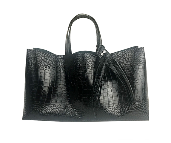 Italian Leather Bag Featuring Swarovski Crystals - MONOLISA Bags Made in California