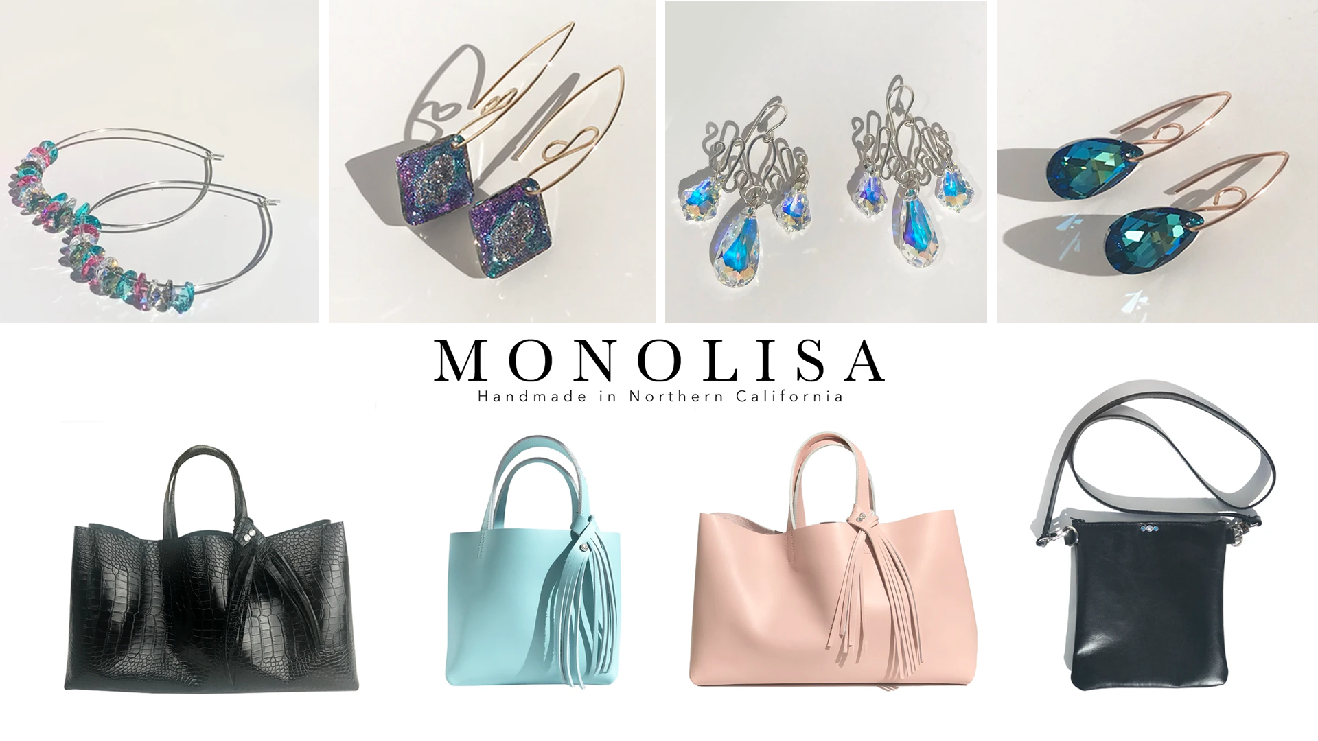 MONOLISA Brand - Handmade Sculpted Jewelry and Leather Bags Made in California