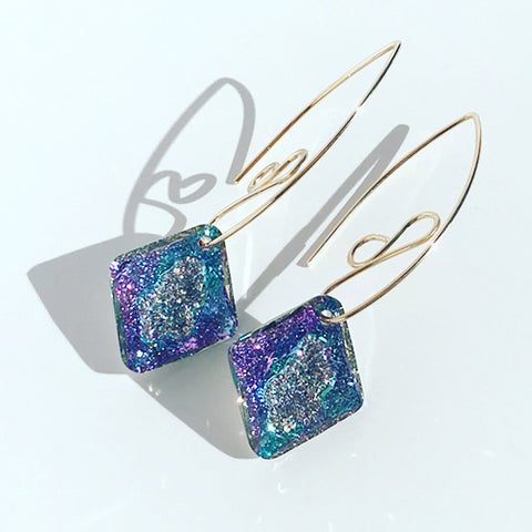 Lavish 14k Gold Earrings Designed with Swarovski Crystals - Made in California
