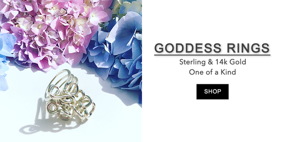 Hand Sculpted Goddess Rings - Sterling & Gold Filled Designs - Rings Made in California
