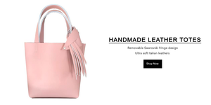 Premium Leather Strap Bags, Totes & Clutches - Handmade in USA