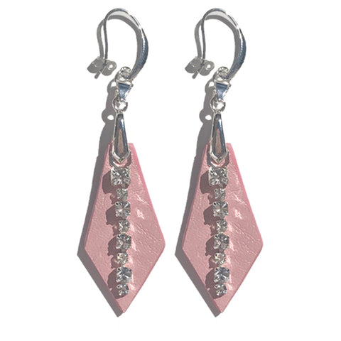 Pink Leather Earrings - Made in California