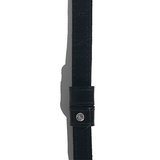 Leather strap featuring a  crystal on the strap loop