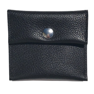 Style 1: Rectangle Pouch – Black Pebble Pattern Leather