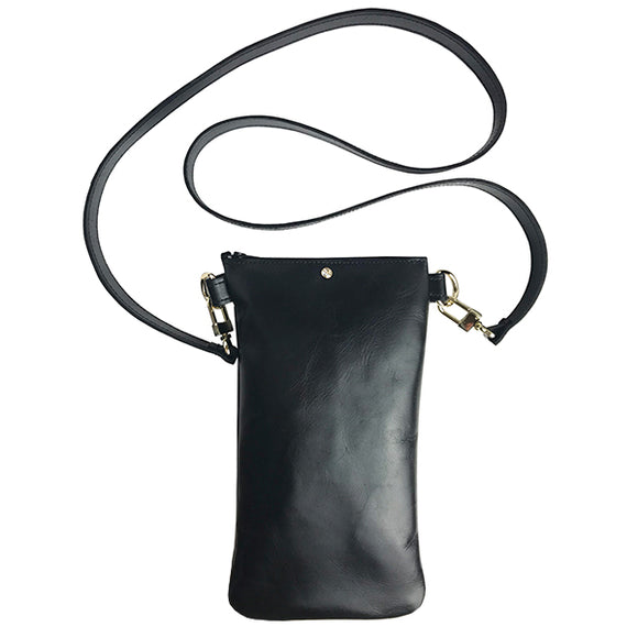Italian Leather Tall Strap Bag 10 – Featuring Swarovski