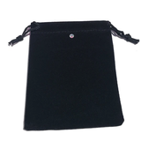 Black Velvet Jewelry Bag