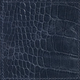 Blue Embossed Croc Leather