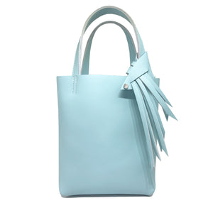 Blue Leather Tote 9 – Fringe Swarovski Design + Keychain