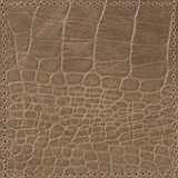 Brown Croc Leather Coaster