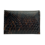 Card Case II – Brown and Black Patent Snake Leather One of a Kind