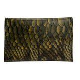 Card Case II – Olive Patent Snake Leather One of a Kind
