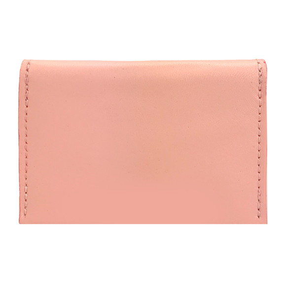 Card Case II – Pink with Leather Edge Finish (3 styles) - MONOLISA