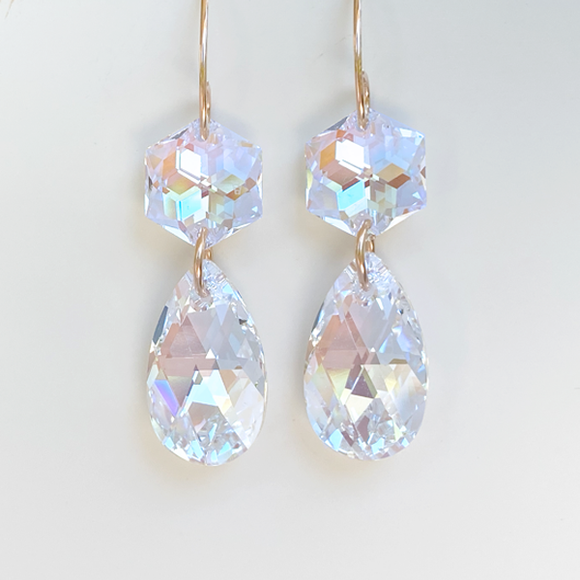 Regal Chandelier Drops - Touches of Blue crystals