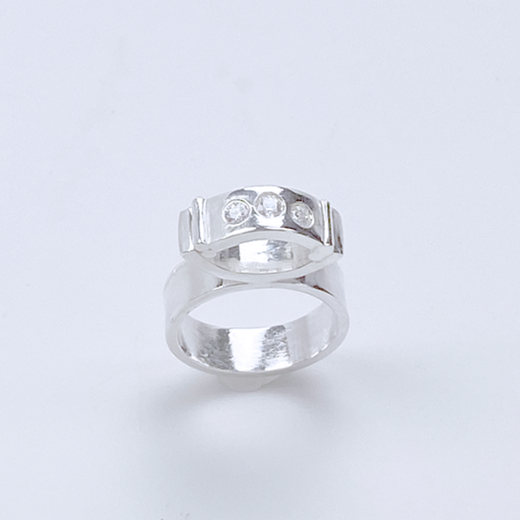 Sterling Silver Gemstone Ring - Tall Elegance