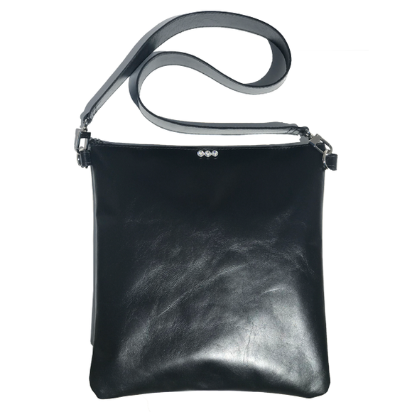 Versatile Large Italian Leather Bag 28 – with thick strap