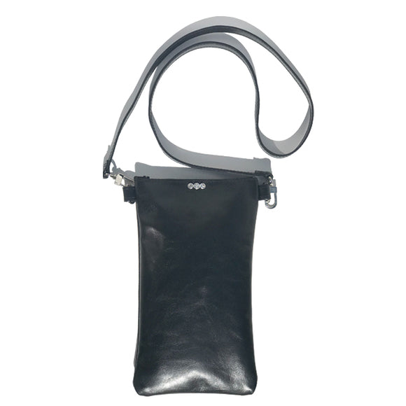 Extra Tall Italian Leather Tall Strap Bag 30 – 3 Swarovski