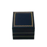 Fancy Gold Trim Ring Box - MONOLISA Rings Made in California