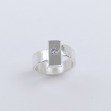 Sterling Silver Gray Spinel Ring - Chic