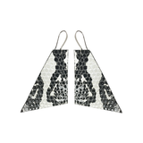 Geo Earrings - Printed Lambskin with Silver Plated Hardware