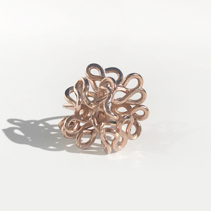 Rings Made in California - Hand Sculpted 14k Rose Gold - Ultra Goddess Flower