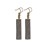 Sparkle Italian Edge Painted Forme Earrings - Print Silk Leather
