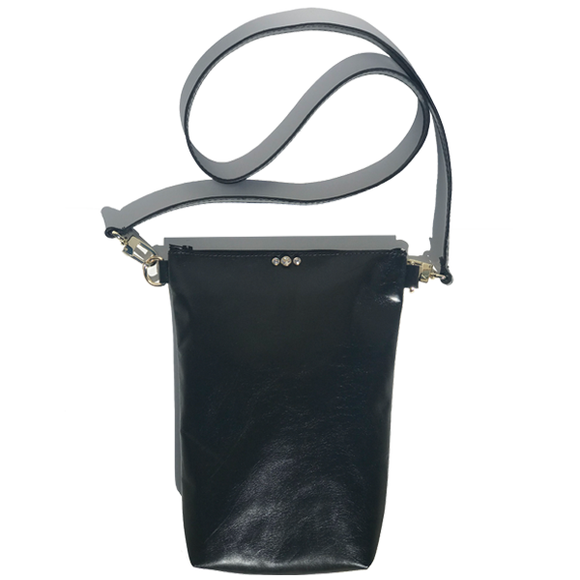 Tall Italian Leather Tall Strap Bag 42 – Three Swarovski