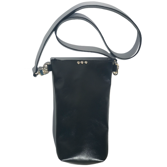 Tall Italian Leather Tall Strap Bag 41 – Three Swarovski