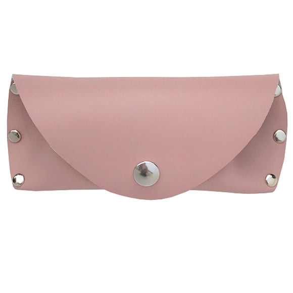 Leather Eye Glass Case - Soft Pink