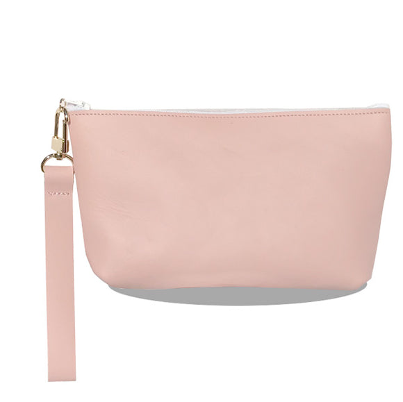 Monique Wristlet Bag – Beautiful Rose Leather