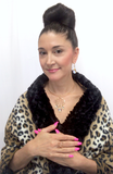 jewelry designer, Lisa Ramos featuring this necklace and matching earrings