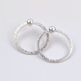 Sterling Silver Hoop Earring Set - Earring Jackets with Studs (wear 4 ways)