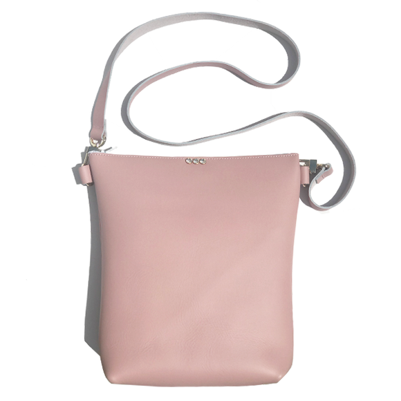 Pink Leather Strap Bag 4 – 3 Swarovski + Matching Keychain