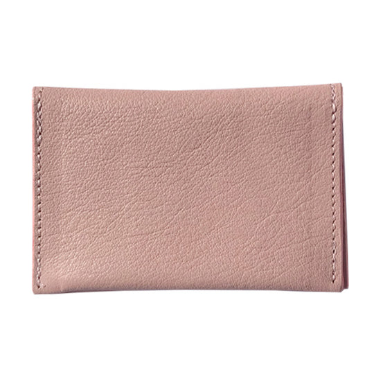 Natural Pink Leather Card Case