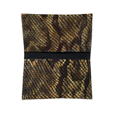 Open Card Case II – Olive Patent Snake Leather One of a Kind