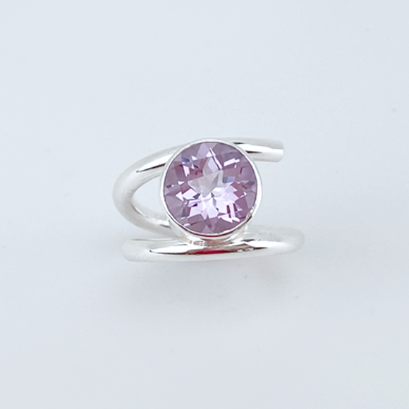 935 Silver Pink Amethyst Ring - Extravagant