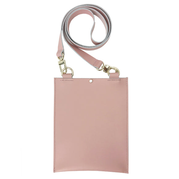 Pink Leather Cell Bag 1 – Featuring Swarovski Crystals