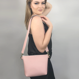 Pink Leather Strap Bag 5 – Featuring Swarovski+ Matching Keychain
