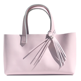 Long Pretty Pink Leather Tote 68 – Bags made in California