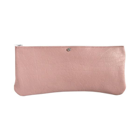 Style 1: Monique Long Pink Leather Pouch