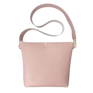 Pink Leather Strap Bag 15 – Featuring Swarovski+ Matching Keychain