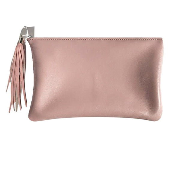 Monique Bag – Soft Pink Leather with Tassel