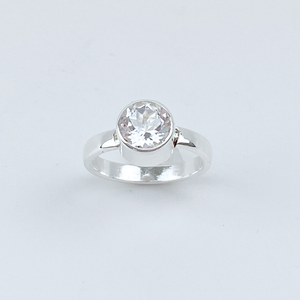 Sterling Silver Quartz Ring - Magical Elegance