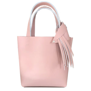 Pink Leather Tote 8 – Fringe  Design + Bag Accessories