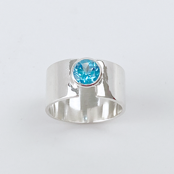 Sterling Silver Topaz Ring - Something Blue