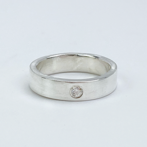 Sterling Gemstone Ring Band - Simple Elegance