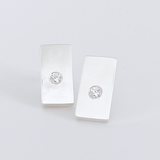 Sterling Gemstone Stud Earrings - Ultra Modern