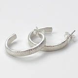 Sophisticated Sterling Silver Hoop Earrings