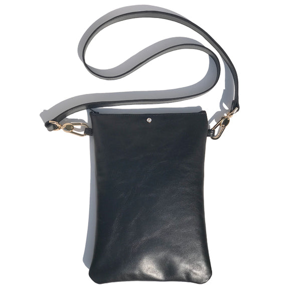 Tall Italian Leather Strap Bag 3 – Featuring Swarovski